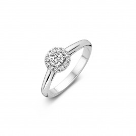 Lilac - Engagement ring in white gold and diamond