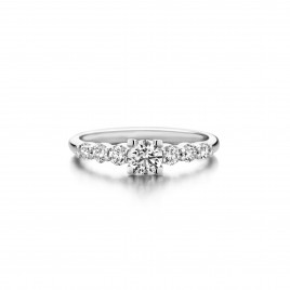 Ixora - Engagement ring in white gold and diamond