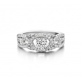 Blossom - Engagement ring in white gold and diamond