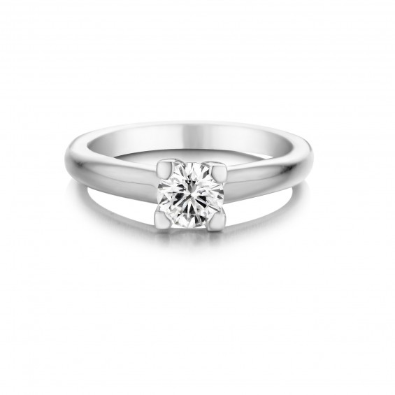 Orchid - Engagement ring in white gold and diamond