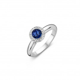 Anguilla - Engagement ring in white gold, sapphire and diamond