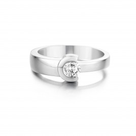 Azalea - Engagement ring in white gold and diamond