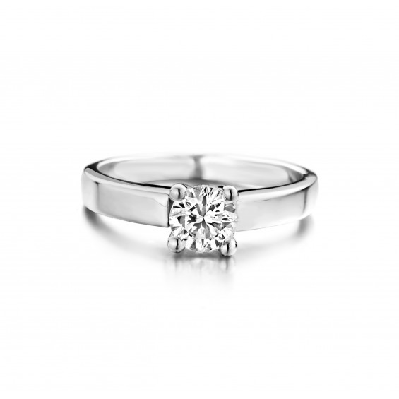Anemoon - Engagement ring in white gold and diamond