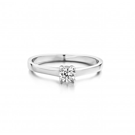 Anjer - Engagement ring in white gold and diamond