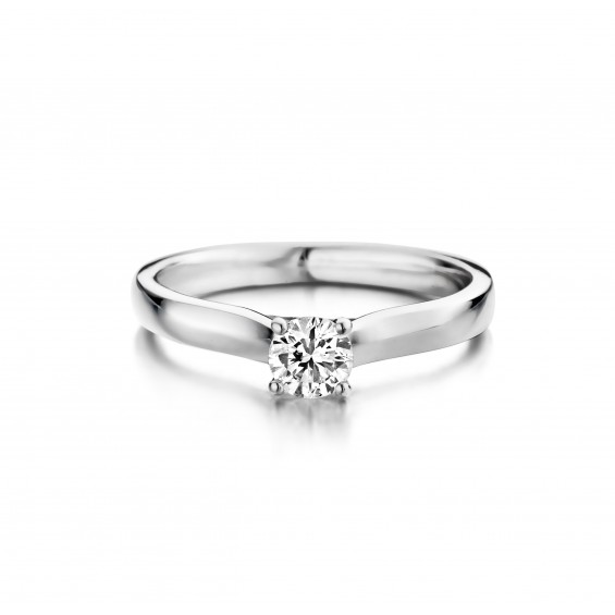 Hortensia - Engagement ring in white gold and diamond