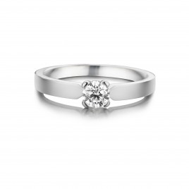 Lobelia - Engagement ring in white gold and diamond