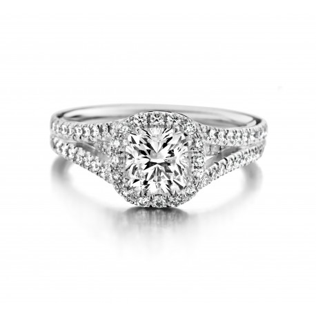 Papaver - Engagement ring in white gold and diamond