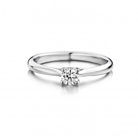 Ranonkel - Engagement ring in white gold and diamond