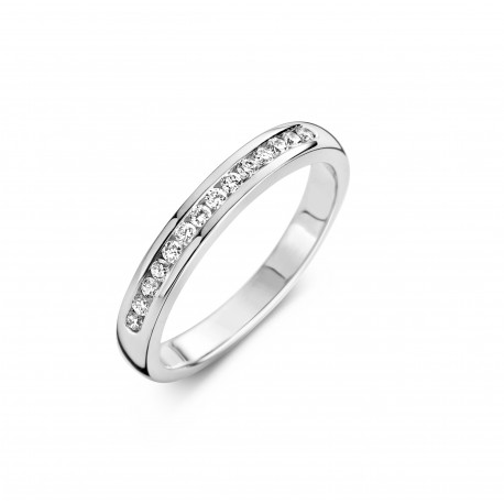 Promise Round 0,37ct - Alliance ring in white gold and diamond