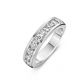 Promise Round 1,03ct - Alliance ring in white gold and diamond