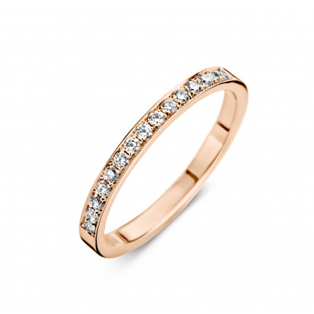 Eternity A 0,21ct - Alliance ring in rose gold and diamond