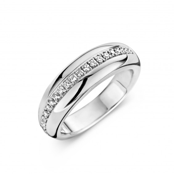 Eternity B 0,25ct - Alliance ring in white gold and diamond