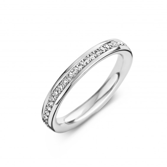 Eternity B 0,23ct - Alliance ring in white gold and diamond