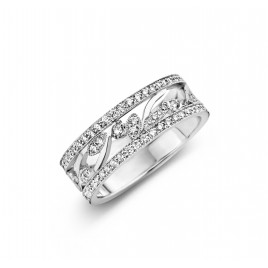 Romantic Vintage 0,80ct - Alliance ring in white gold and diamond