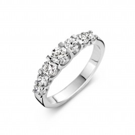 Martens Classic 0,94ct - Alliance ring in white gold and diamond