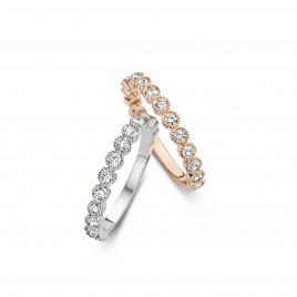 Romantic Vintage 0,50ct - Alliance ring in white gold and diamond