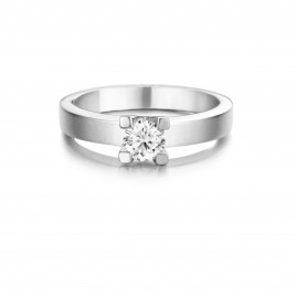 Lilium - Engagement ring in white gold and diamond