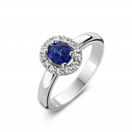 Maui - Engagement ring in white gold, sapphire and diamond