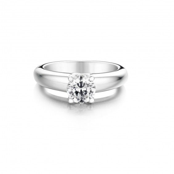 Narcissus - Engagement ring in white gold and diamond