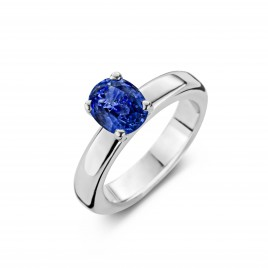 Namibia - Engagement ring in white gold and sapphire